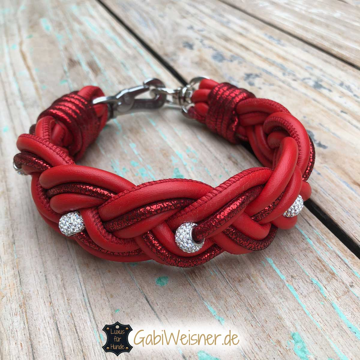 Halsband in Rot